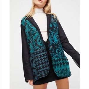 Free People Better Together Blazer Sweater S NWT✨